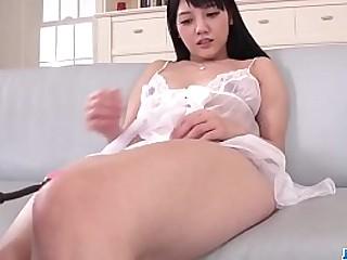 Hot japan girl Rei Mizuna in group sex scene