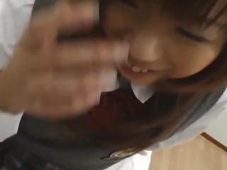Concupiscent schoolgirl playgirl Misa Kurita acquires her gaping bawdy cleft pumped hard